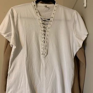 LF Lace Up Tee